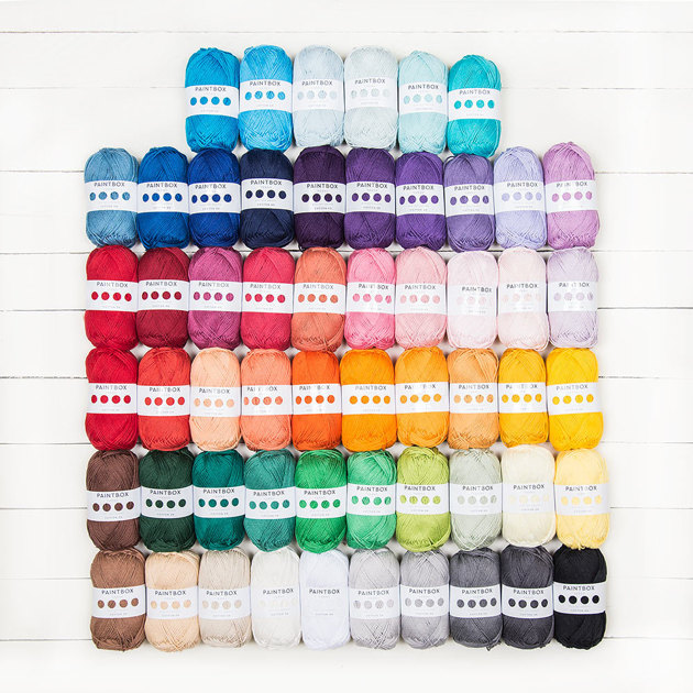 Paintbox Yarns Cotton Dk All 56 Shades Colour Pack