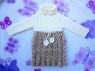 c1d495e66 Seamless and Reversible Cables Baby Dress Knitting pattern by ...