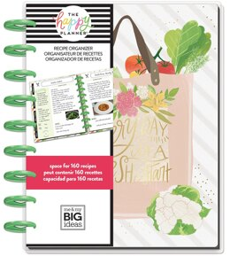 "Me & My Big Ideas Happy Planner Undated Medium Planner 7.75""X9.75"" - Recipe"