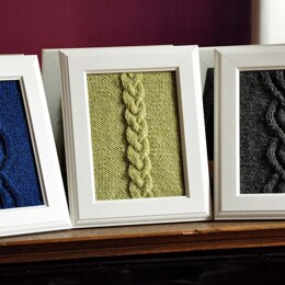 Cable Panels Knitted Wall Art