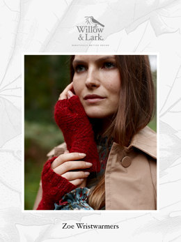 Zoe Wristwarmers in Willow & Lark Woodland - Downloadable PDF