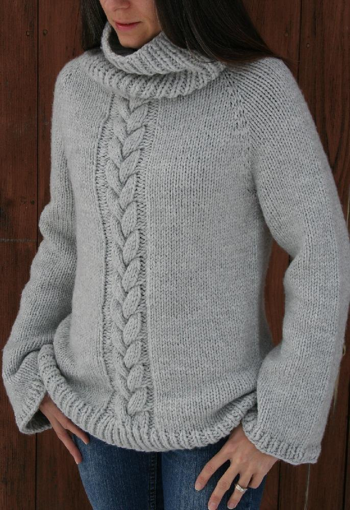 Knitting Pattern Upside Down Sweater : Top down Cozy Weekend Sweater. Knitting pattern by Amanda ...