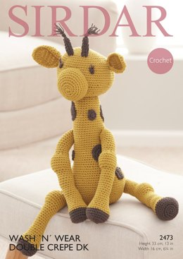 Giraffe Toy in Sirdar Wash 'n' Wear Double Crepe DK - 2473 - Downloadable PDF