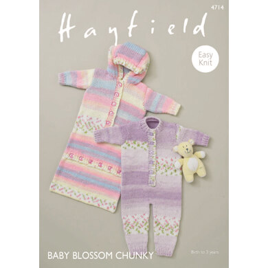 All - IN - One and Sleeping Bag in Hayfield Baby Blossom Chunky - 4714 - Downloadable PDF