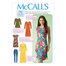 McCall's Misses' Tunic, Dresses and Leggings M7122 - Sewing Pattern