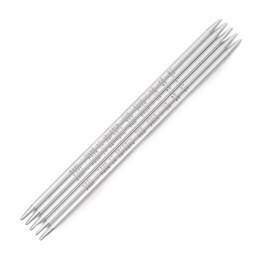 Addi Pearl Grey Double Point Needles 20cm