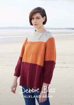 Ellie Sweater in Debbie Bliss Falkland Aran - DBS035 - Downloadable PDF
