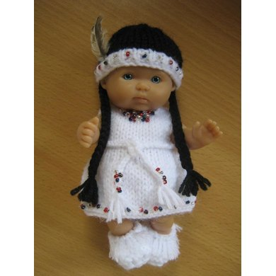 """5"""" Berenguer Native American Outfit"""