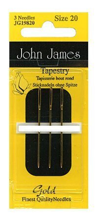 John James Size 20 Gold Tapestry Needles(3)