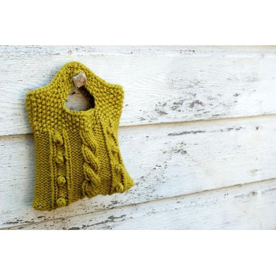 Cabled Bobble Clutch (knit version)
