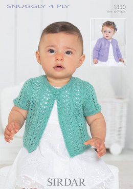 Cardigans in Sirdar Snuggly 4 Ply - 1330 - Downloadable PDF