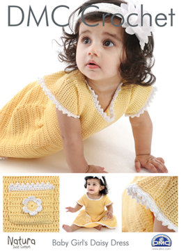 Baby Girl's Daisy Dress in DMC Natura Just Cotton - 15093L/2