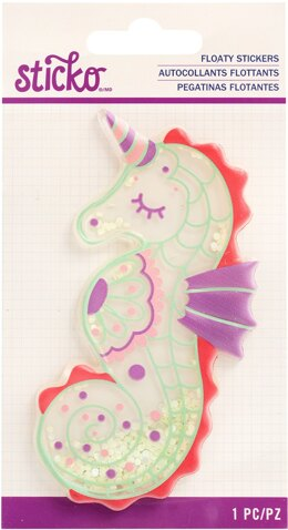 Sticko Floaty Sticker - Seacorn