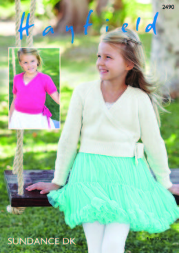 Girl's Ballet Wrap in Hayfield Sundance DK - 2490 - Downloadable PDF