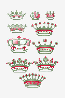 French Crown Jewels in DMC - PAT0780 - Downloadable PDF