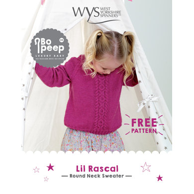 Lil Rascal Round Neck Sweater in West Yorkshire Spinners Bo Peep Luxury Baby - Downloadable PDF