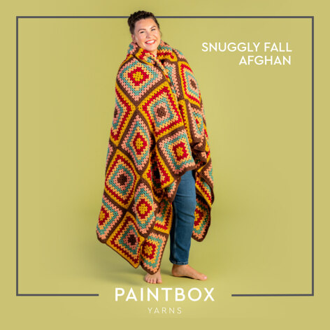Snuggly Fall Afghan - Free Afghan Crochet Pattern For Home in Paintbox Yarns Simply DK by Paintbox Yarns