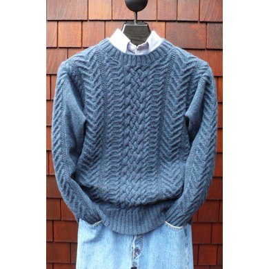 Ms 209 Fisherman Pullover Knitting Pattern By Mari Dembrow