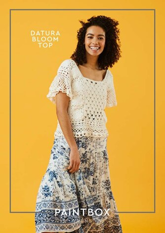 Datura Bloom Top in Paintbox Yarns Cotton DK - Downloadable PDF