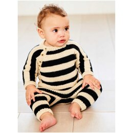 Baby's Cardigan and Leggings in Rico Baby Dream Luxury Touch Uni DK - 1038 - Downloadable PDF