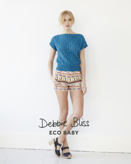 Lace Knot Top in Debbie Bliss Eco Baby - DB071 - Leaflet