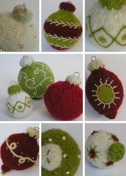 Felted Woolly Holiday Ornaments