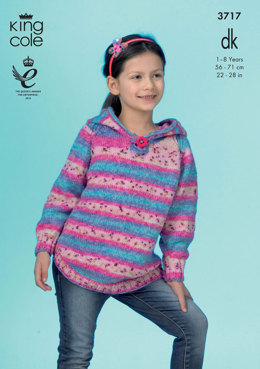 Hoodies in King Cole Splash DK - 3717