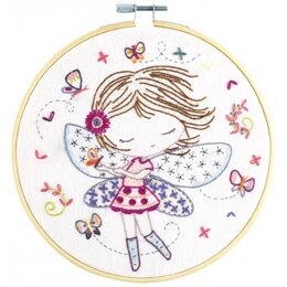 Un Chat Dans L'Aiguille When Salome Plays The Fairy Embroidery Kit - Sold Without Hoop