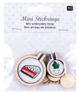 Rico Mini Embroidery Hoop Round, S/M - 2 Pieces