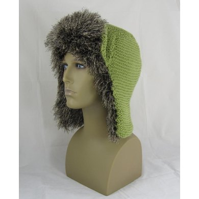 Garter Stitch Trapper Hat