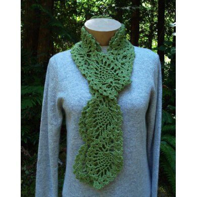 Cascading Pineapples Scarf - PA-301