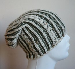 Reversible Brioche Ladder Hat