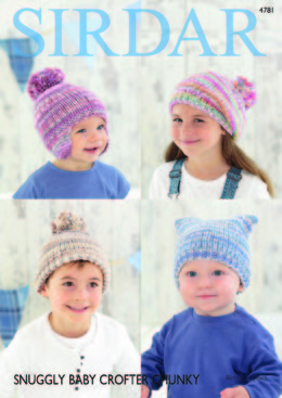 Beret, Helmet and Hats in Sirdar Snuggly Baby Crofter Chunky - 4781 - Downloadable PDF