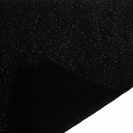 Trimits Glitter Felt Sheet - 23cm x30cm - Black