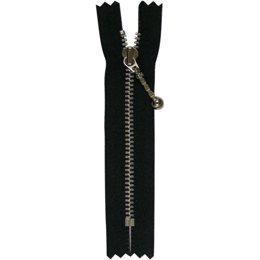 Pocket, Low Rise Jean And Pant Zip With Aluminum Metal Teeth 10cm/4""
