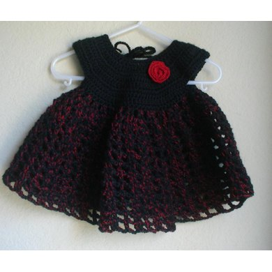 Red Rose Baby Dress