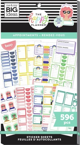 Me & My Big Ideas Happy Planner Sticker Value Pack - Appointments, 596/Pkg