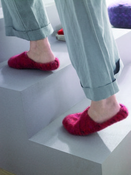 Slippers in Schachenmayr Wash and Filz-it Big - F0021 - Downloadable PDF