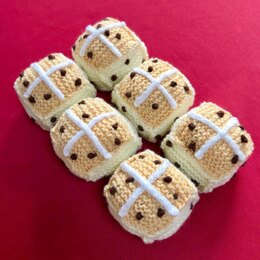 Play / Pretend Food Hot Cross Buns in Patons Fab DK