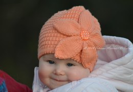 Peach Flower Hat