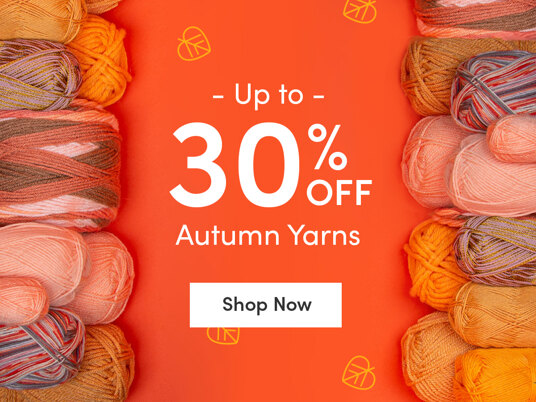 Up to 30 percent off autumn yarns