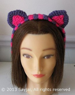 Cheshire Cat Headband Crochet Pattern