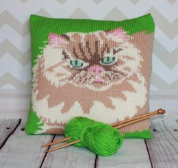 Persian Cat Cameo Cushion Cover