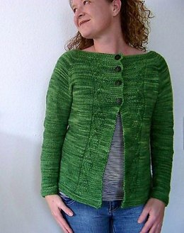 Green Leaf Cardigan