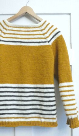 Petit Paris Mustard Yellow Striped Jumper Sweater
