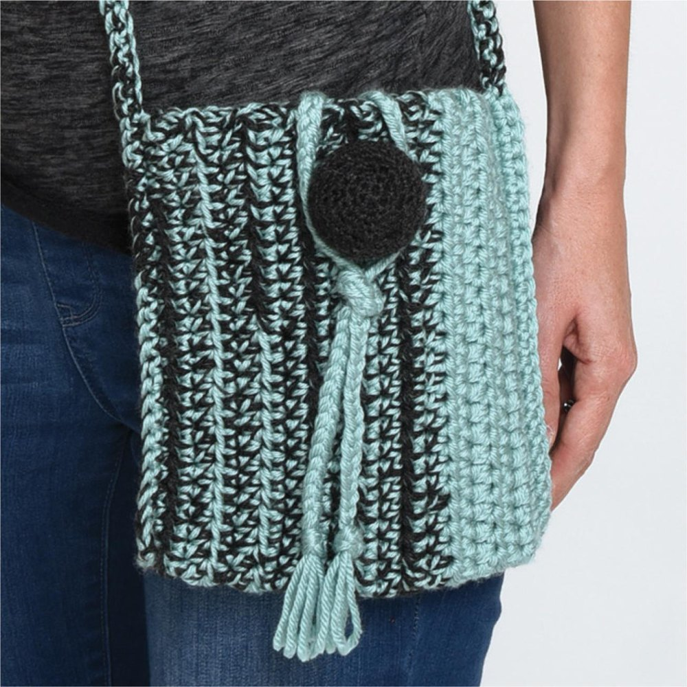 Ball Button Crossbody Bag Crochet Pattern By Crochet With Mary Beth