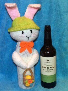 Easter Bunny Wine Bottle Cover