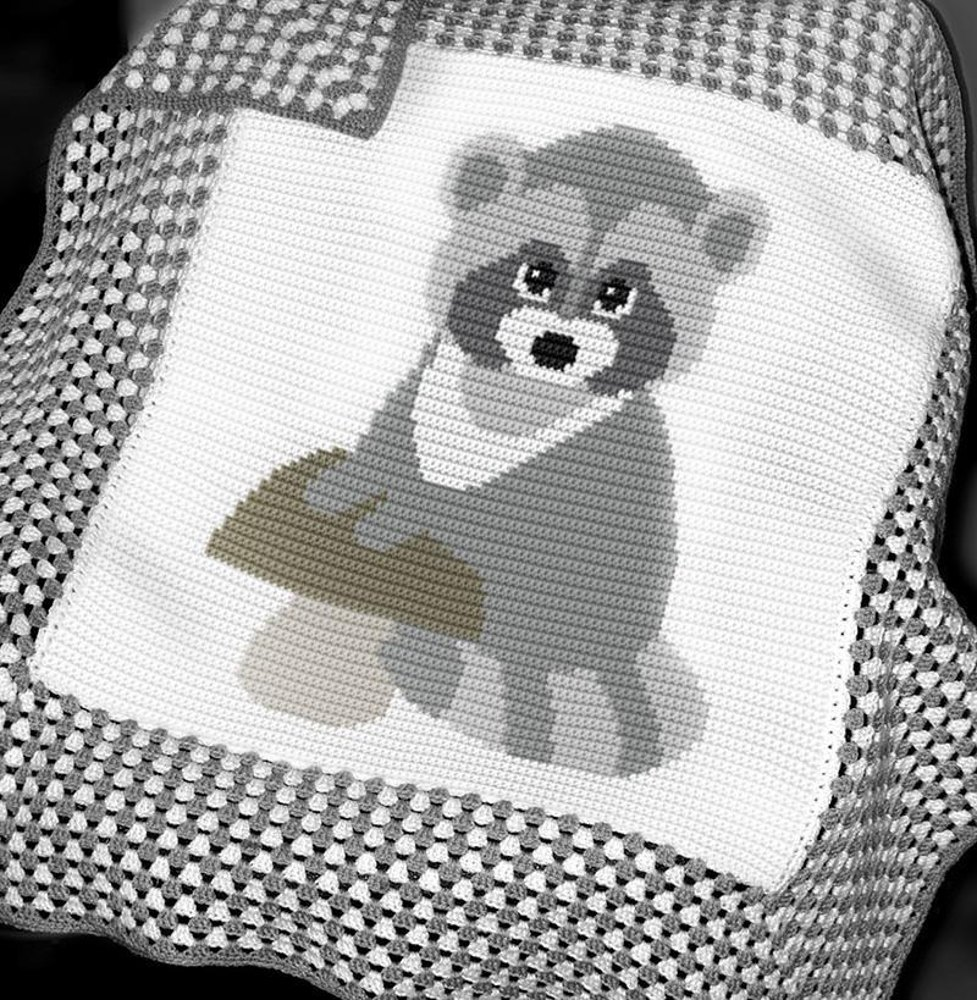 Crochet Baby Blanket Baby Raccoon Crochet Pattern By