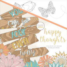 "Kaisercraft KaiserColour Perfect Bound Coloring Book 9.75""X9.75"" - Happy Thoughts"