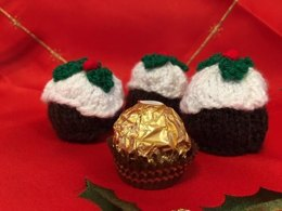 Xmas Pudding Cover for Ferrero Rocher Chocolate
